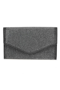 All Over Rhinestones Flap Over Envelope Clutch