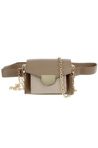 Solid Flap Over Clip On Clutch Fanny Pack or Messenger