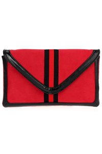 Strap Centered With Envelope Style Clutch With Chain Strap