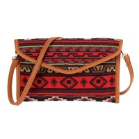 Tapestry Envelope Clutch w shoulder strap