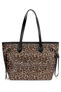 Leopard Print With Double Handle Tote Bag