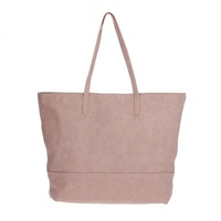 Solid Shopper Tote With Double Handle