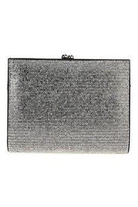 Crystal Rhinestone Framed Clutch With Chain Strap