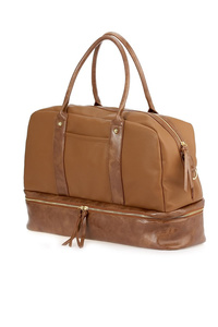 Solid Over Night Duffel Bag With Shoe Compartment