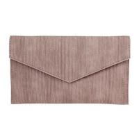 Textured Flap Over Envelope Clutch With Chain Strap