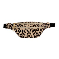Leopard Double Zipper Fanny Pack