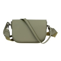 Solid Flap Over Messenger Bag With Strap
