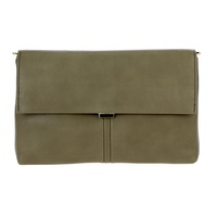 Solid Flap Over Clutch With Strap