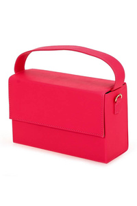 Solid Neon Color Box Clutch With Chain Strap