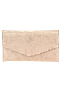 Solid Vintage Envelope Clutch With Chain Strap