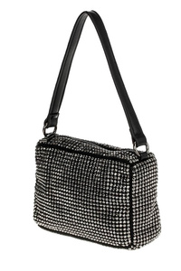 All Over Rhinestones Rectangle Messenger Bag