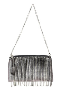Front Rhinestones Layered Evening Messenger Bag