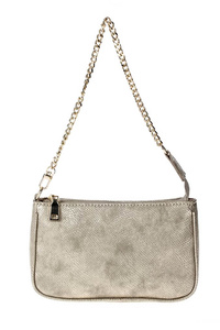 Solid Shinny Textured Messenger With Chain Strap