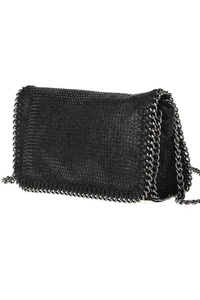 Solid Chain Edged All Over Studs Messenger With Strap
