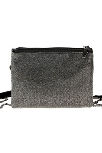 All Over Rhinestones Double Compartment Messenger Bag