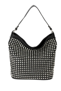 Front All Over Rhinestones Single Handle Hobo Bag