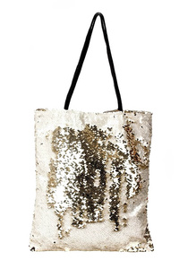 All Over Sequins Tote Bag With Slim Strap