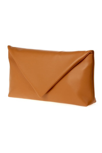 Solid Flap Over Clutch With Shoulder Strap
