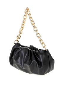 Solid Dumpling Bag With Chain and Shoulder Strap