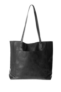 Solid Front Pocket With Slim Handles Tote
