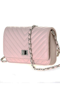 Solid Chevron quilted WOC with chain shoulder