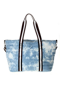 Quilted Tote Bag With Fabric Strap