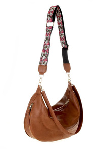 Solid Expandable Guitar Strap Large Hobo Bag