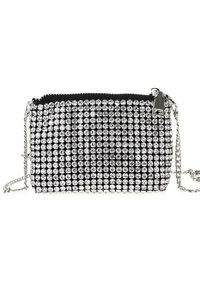 Mini Rhinestone zip-top Cross Body Messenger