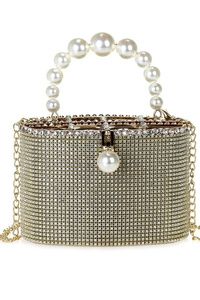 All Over Rhinestones Bucket Style Evening Clutch