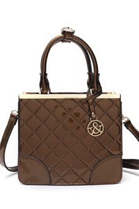 Patent Quilted Classic with Shoulder Strap Inspired Satchel Bag