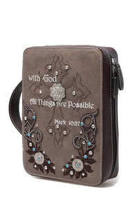 Western Cowgirl Bible Verse With Cross Bible Cover Case