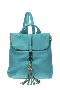 Solid Tassels Accented Zip Around Closure Backpack