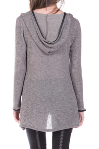 Hooded Knit Long Sleeve Top