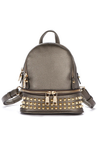 Sold With Bottom All Over Studs Two Compartment Small Backpack
