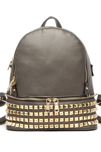 Sold With Bottom All Over Studs Two Compartment Large Backpack