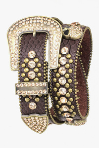 HIGH END DESIGNER SUPER QUALITY SKULL RHINESTONES BELT