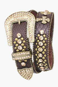 HIGH END DESIGNER SUPER QUALITY CROSS RHINESTONES BELT
