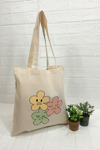 100% Organic Cotton Tote With Print