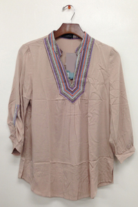 Soft Woven Peasant Top
