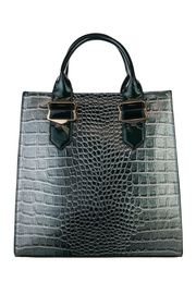 Shinny Crocodile Structure Top Handle Tote Bag With Strap