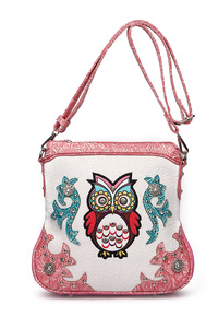 Western Cowgirl OWL Printed Messenger Bag