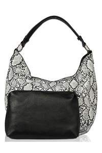Snake Skin And Pouch Two In One Hobo Bag