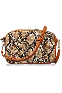 Snake Print Round Messenger With Tassels