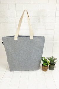 Large Recycled Shopping Tote With Double Handles