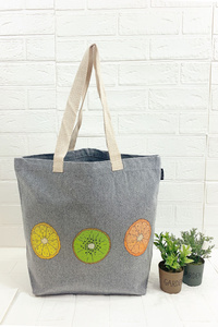 Large Recycled Shopping Tote With Print