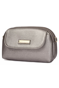 Solid Flap Over Messenger With Wrist And Shoulder Strap