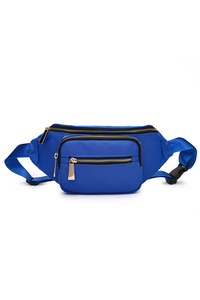 Solid Front Two Pockets Fanny Pack