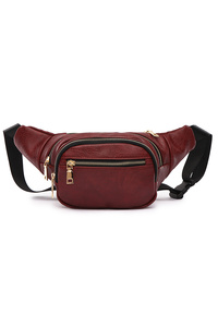 Solid Front Zipper Pocket Fanny Pack
