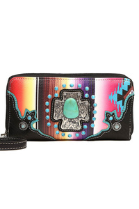 Western Cowgirl Fringe And Rainbow Wallet