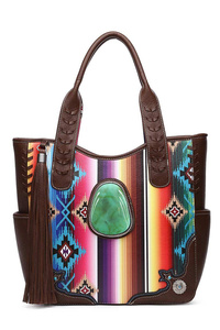 Restocked Western Cowgirl Fringe And Rainbow Tote Bag With Strap